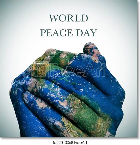 Free art print of world peace day earth map furnished by nasa the free art print of world peace day earth map furnished by nasa gumiabroncs Images