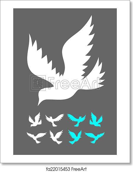 Free art print of Dove silhouette