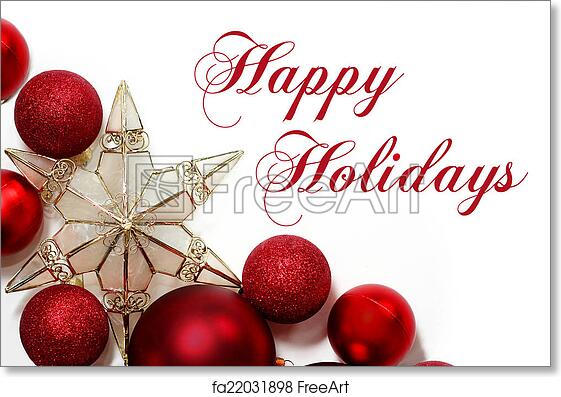 Free art print of Christmas Decorations Border with Text Happy ...