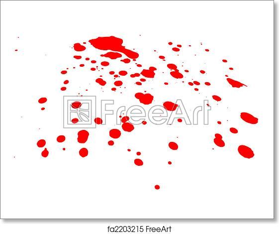 A Blood Splatter On White Background Would Be Good For Halloween Or Medical Concepts