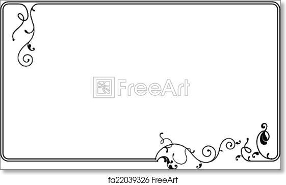 frame border design.  Frame Free Art Print Of Frame Border Design For O