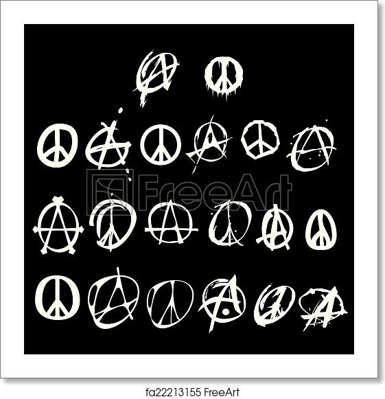 Free Art Print Of Anarchy And Peace Symbol Logo Anarchy And Peace