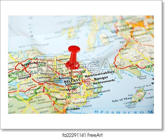 Map Of Ireland United Kingdom.Free Art Print Of Belfast Ireland United Kingdom Map