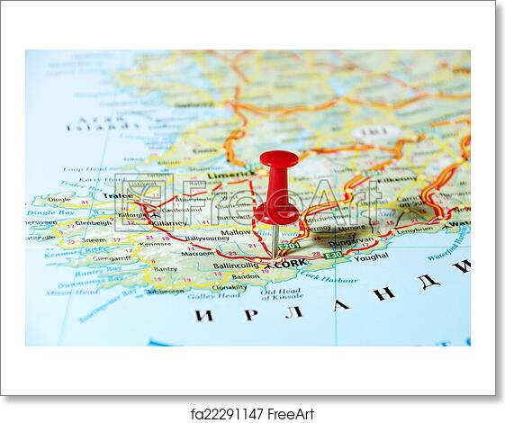 Print Map Of Ireland.Free Art Print Of Cork Ireland United Kingdom Map