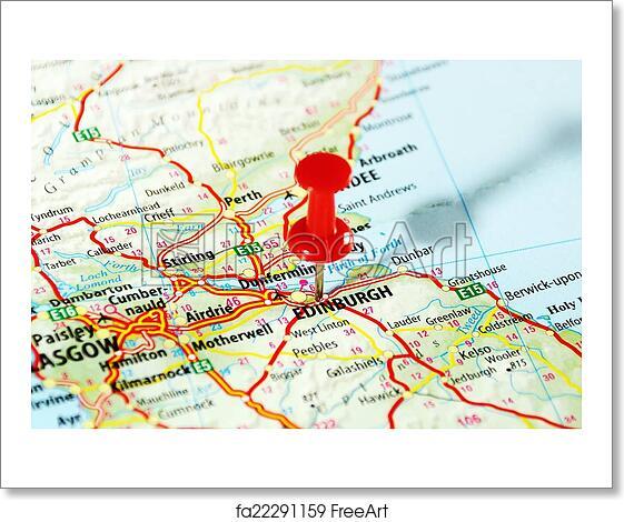 Map Edinburgh.Free Art Print Of Edinburgh Scotland Map