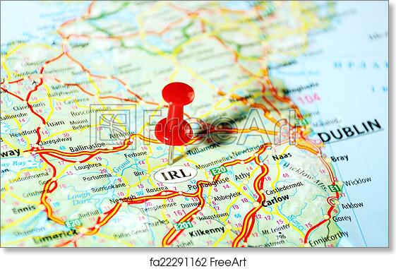 image about Printable Map of Uk and Ireland identify Cost-free artwork print of Eire, United Kingdom map