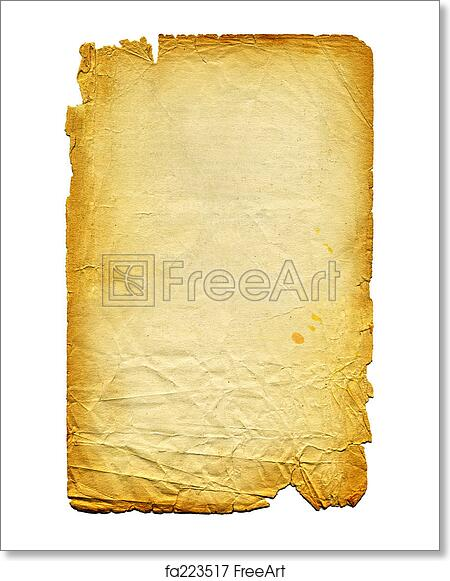 Free art print of Old textured paper with tattered edge  On white