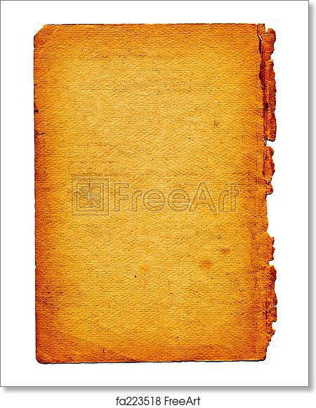 Free art print of Old textured paper with tattered edge