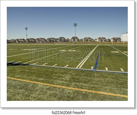 Kids Childrens Football Field 100 X 133cm: Free Art Print Of Football Field. American Football Field