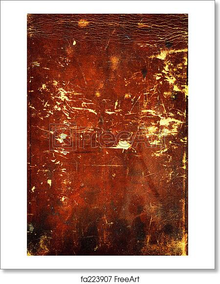 free art print of old tattered leather old tattered leather very