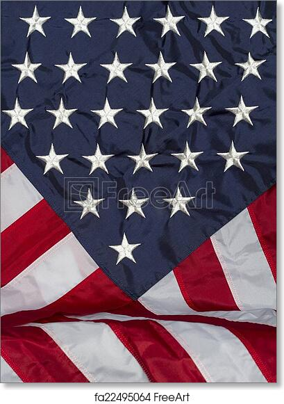 photo regarding Free Printable American Flag called Cost-free artwork print of American Flag Draped History