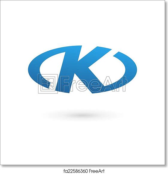 Free art print of Letter K logo icon design template elements ...