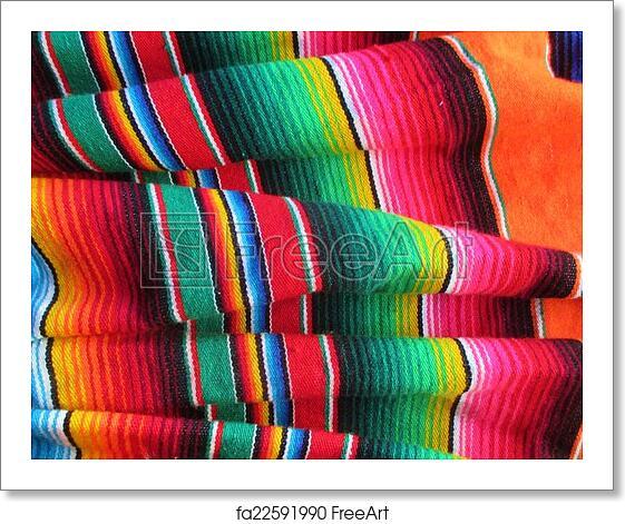 Free Art Print Of Cinco De Mayo Mexican Fiesta Blanket