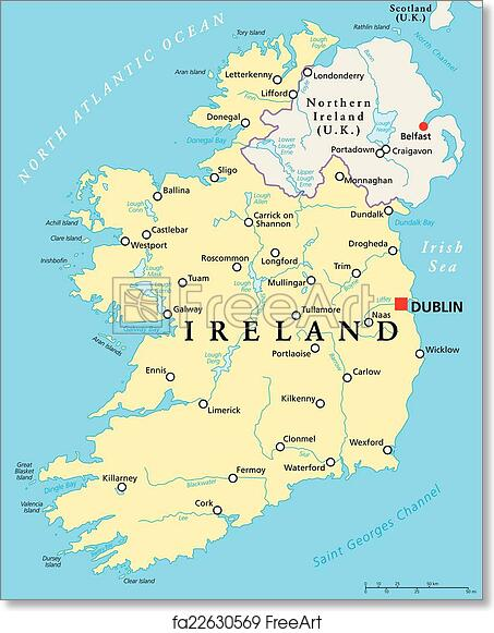 photograph about Printable Map of Uk and Ireland identify Print Map Of Eire