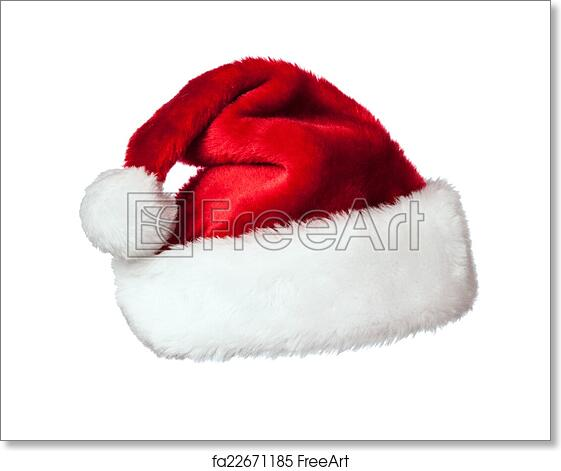 Free art print of Santa hat on white. Santa Claus hat isolated on ... 70dd36c971bd