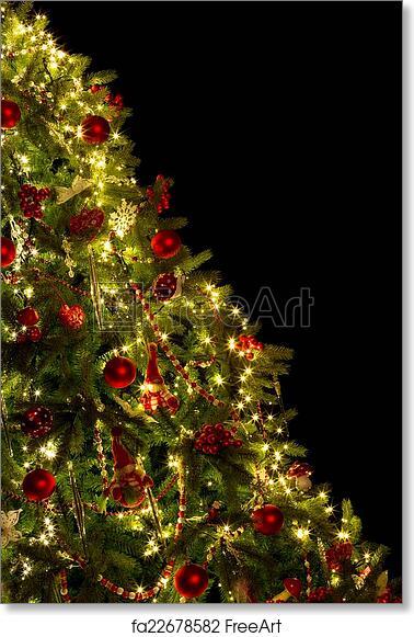 Half Christmas Tree.Free Art Print Of Diagonal Christmas Tree