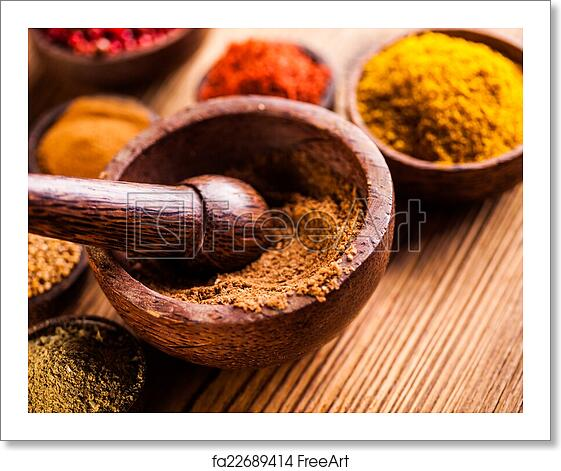 Free art print of Asian seasoning, oriental theme with spices
