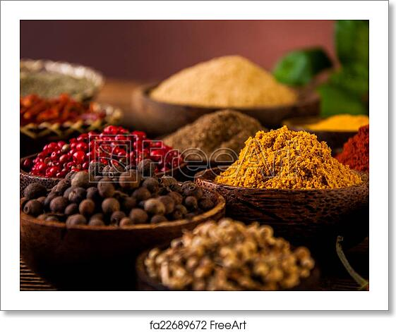Free art print of Spices of Indonesia