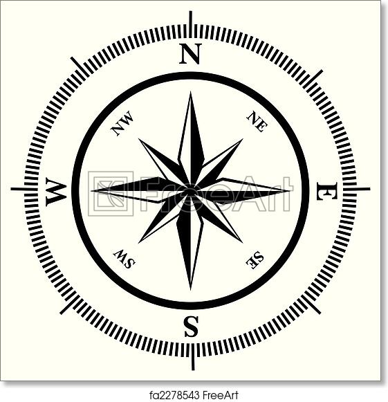 photograph about Printable Compass named Absolutely free artwork print of Comp rose