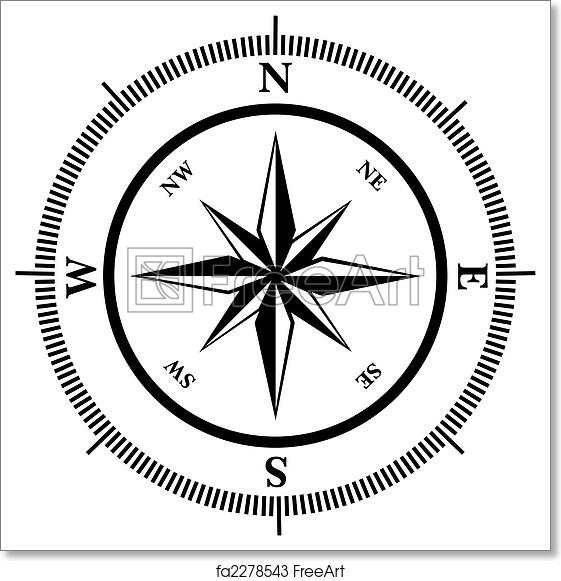 photo about Printable Compass known as Cost-free artwork print of Comp rose