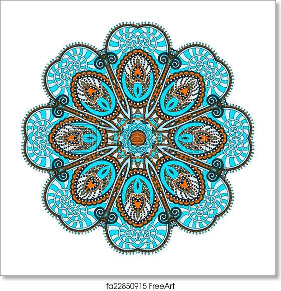 Free Art Print Of Mandala Circle Decorative Spiritual Indian Symbol