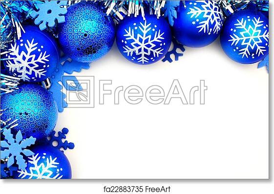 Free Art Print Of Blue Christmas Bauble Border