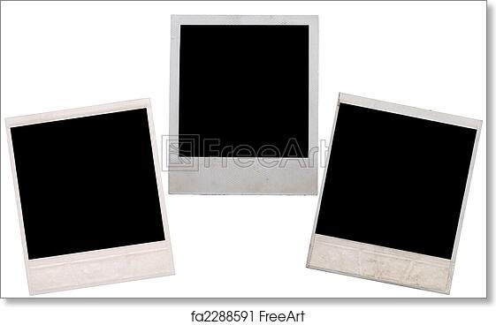 free art print of polaroid. polaroid frame isolated on white ...