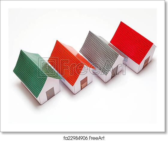 Free art print of Papercraft House
