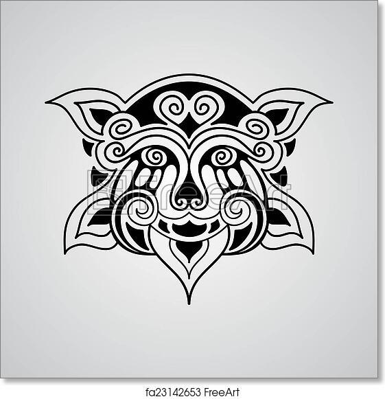 Free Art Print Of Vector Lion Tattoo Sketch