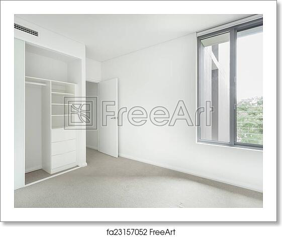 Free Art Print Of Empty Bedroom Empty Bedroom With Wardrobe And