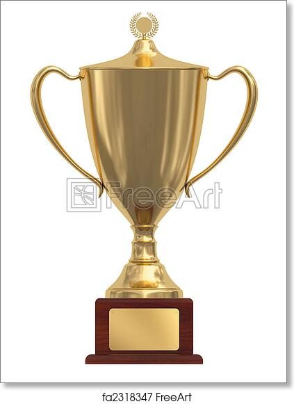 photograph regarding Printable Trophy known as Free of charge artwork print of Gold trophy cup upon wooden pedestal