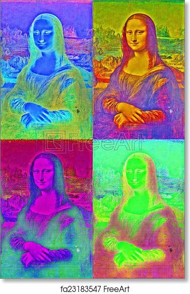 Amante Mona Lisa Andy Warhol Inspired Art Print Home Decor Wall Art &FI_31