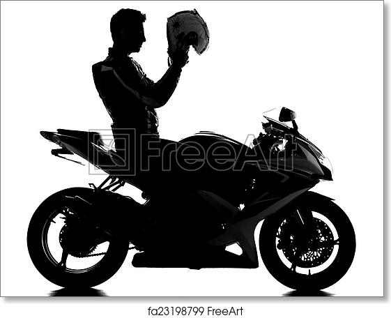 Free Art Print Of Motorcycle Silhouette Of A Motorcycle Racer With