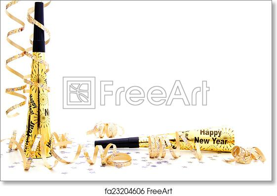 Free art print of New Years Eve party border. New Years Eve party ...