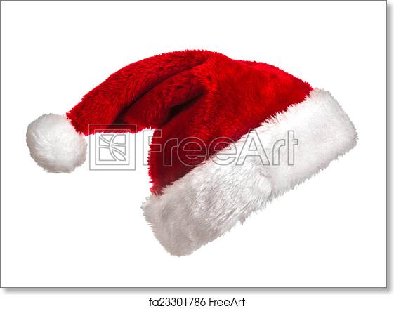 picture regarding Printable Santa Hat named No cost artwork print of Santa hat upon white
