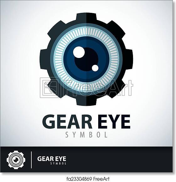 Free Art Print Of Gear Eye Symbol Icon Gear Eye Symbol Icon Logo