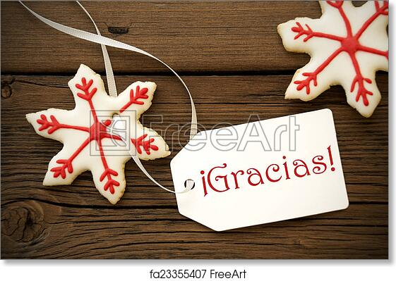 Free Art Print Of Christmas Star Cookies With Gracias