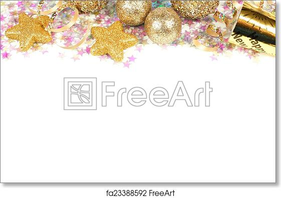 free art print of new years eve border isolated