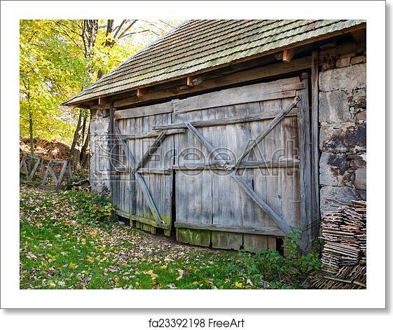 Free Art Print Of Rustic Barn Door Rustic Wooden Barn Gate Of Old