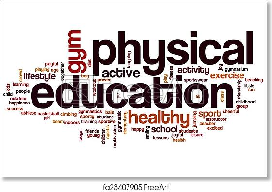 Free art print of Physical education word cloud. Physical ...