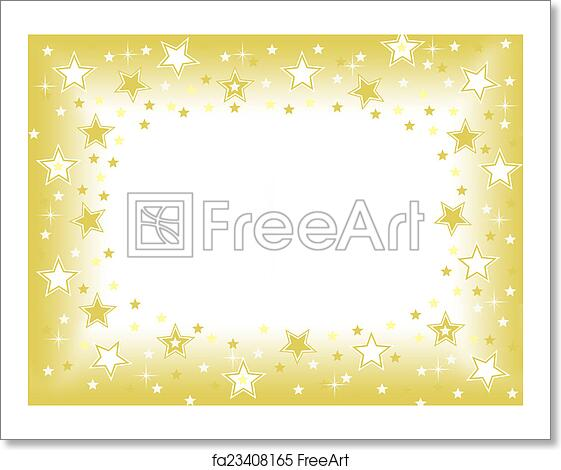 free art print of gold star background gold star background with