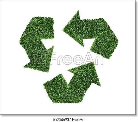 Free Art Print Of Recycle Symbol In Green Recycle Symbol In Green