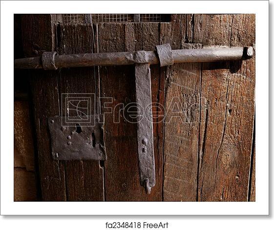 Free art print of Old medieval lock on wooden castle door. Old ...