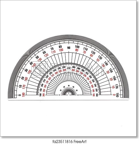 graphic about Small Printable Protractor identify No cost artwork print of Entire-Circle protractor isolated upon white historical past