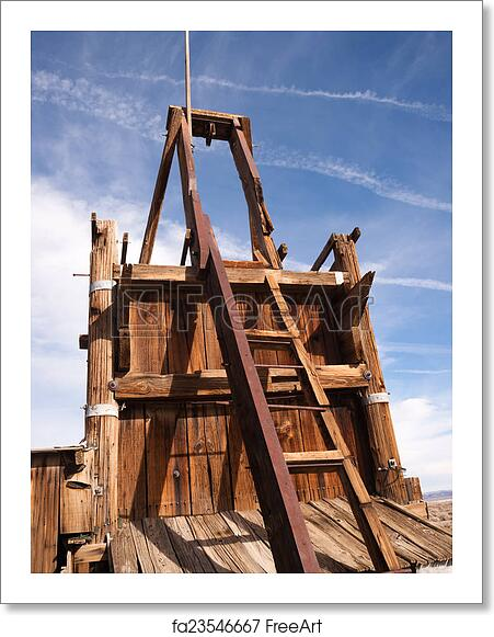 Free art print of Old Abandoned Mine Shaft Western Desert Ghost Town