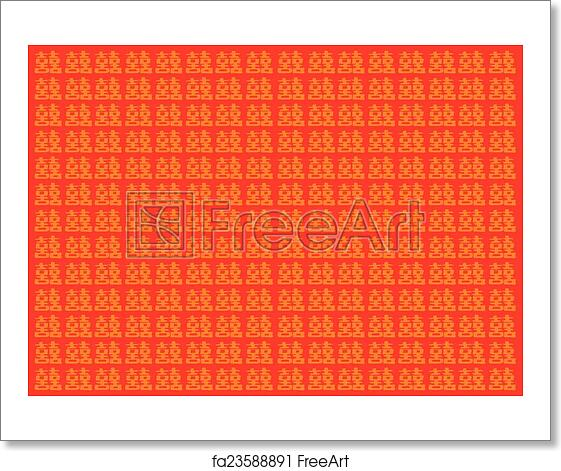 Free art print of Traditional Chinese Double Happinesss Red Vector  Background