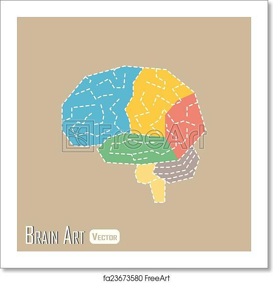 Free Art Print Of Brain Anatomy Frontal Lobe Parietal Lobe