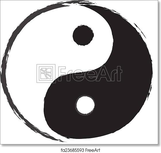 Free Art Print Of Yin Yang Symbol Drawing Freeart Fa23685593