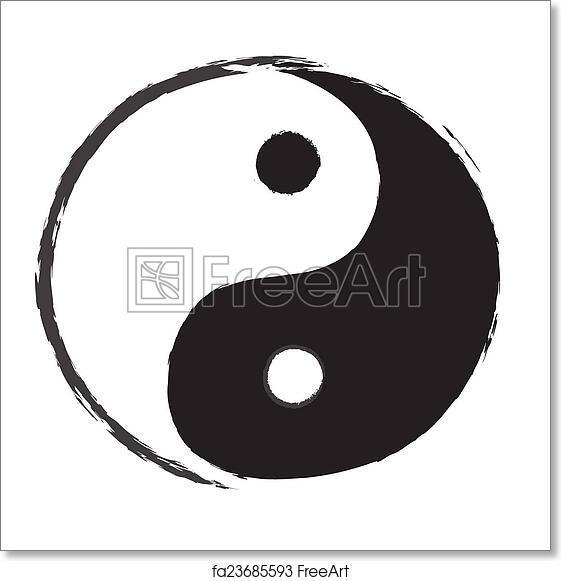 Free Art Print Of Yin Yang Symbol Drawing Freeart Fa23685593
