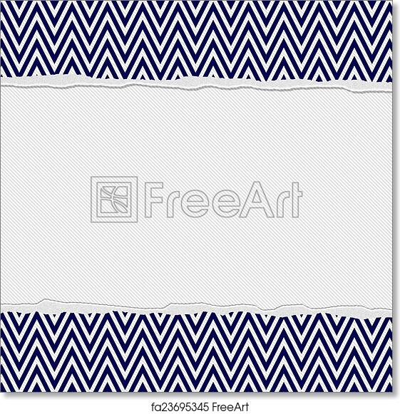 Free Art Print Of Navy Blue And White Torn Chevron Frame Background